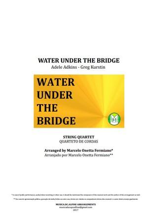 Water Under the Bridge - Adele - Quarteto De Cordas - Grade e partes - Partitura