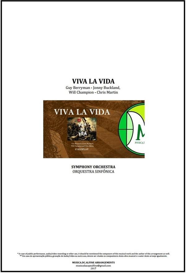 Viva La Vida | Coldplay | Symphony Orchestra | Score and Parts | Download