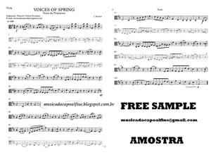 Voices of Spring - Strauss - Vozes da Primavera - Viola solo - Sheet music download.pdf