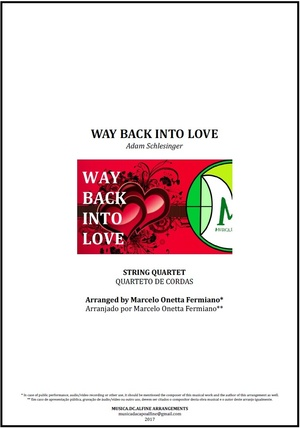 Way Back Into Love | Janice Vidal | Quarteto de Cordas | Partitura Completa Download
