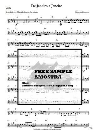 De Janeiro a Janeiro - Roberta Campos (viola arrangement of brazilian song)