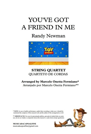 You've Got a Friend in Me - Randy Newman - String Quartet - Sheet Music PDF