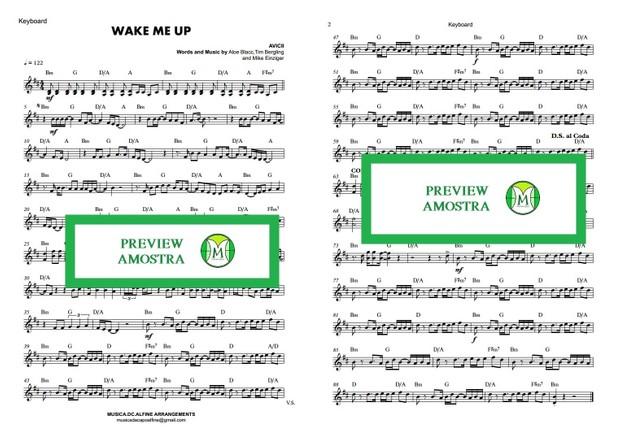 Wake Me Up | Avicii | Keyboard or Violin | Sheet Music