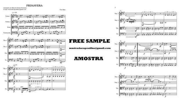 PRIMAVERA - Tim Maia - Quarteto de Cordas - Score and parts.pdf partitura