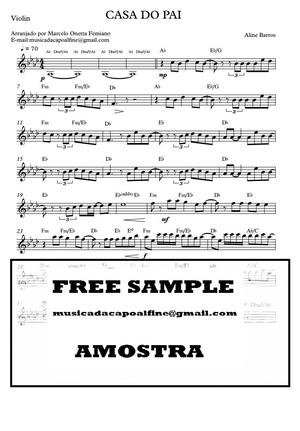 Casa Do Pai - Violino - Parts PDF