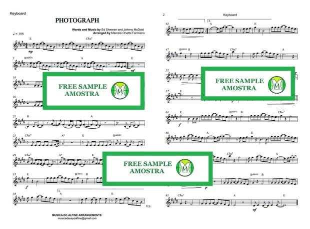 Photograph - Ed. Sheeran - Keyboard - Sheet Music with Chords
