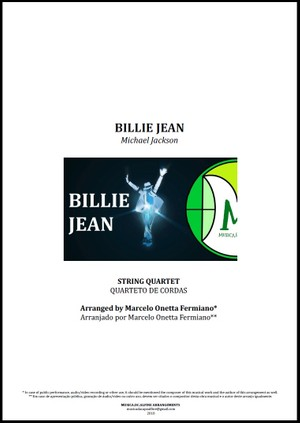 Billie Jean | Michael Jackson | Quarteto de Cordas | Partitura Completa | Download
