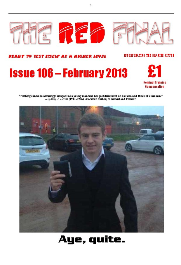 The Red Final, Issue 106