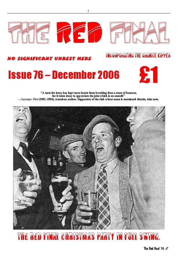 The Red Final, Issue 76