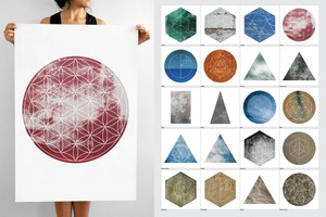 Large Geometric Textures - 20 Items