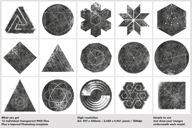 Textured Geometric Masks 02