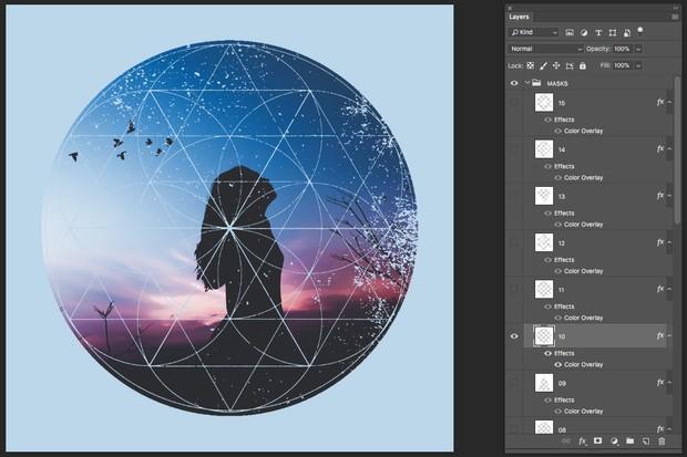 Instagram Textured Geometric Masks