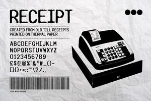 RECEIPT - Font & Vectors