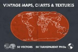 Vintage Maps, Charts & Textures