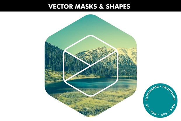 Vector Masks & Shapes - Ai & Ps