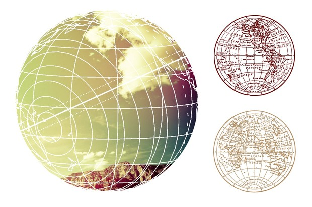 Distressed Vector Maps & Charts
