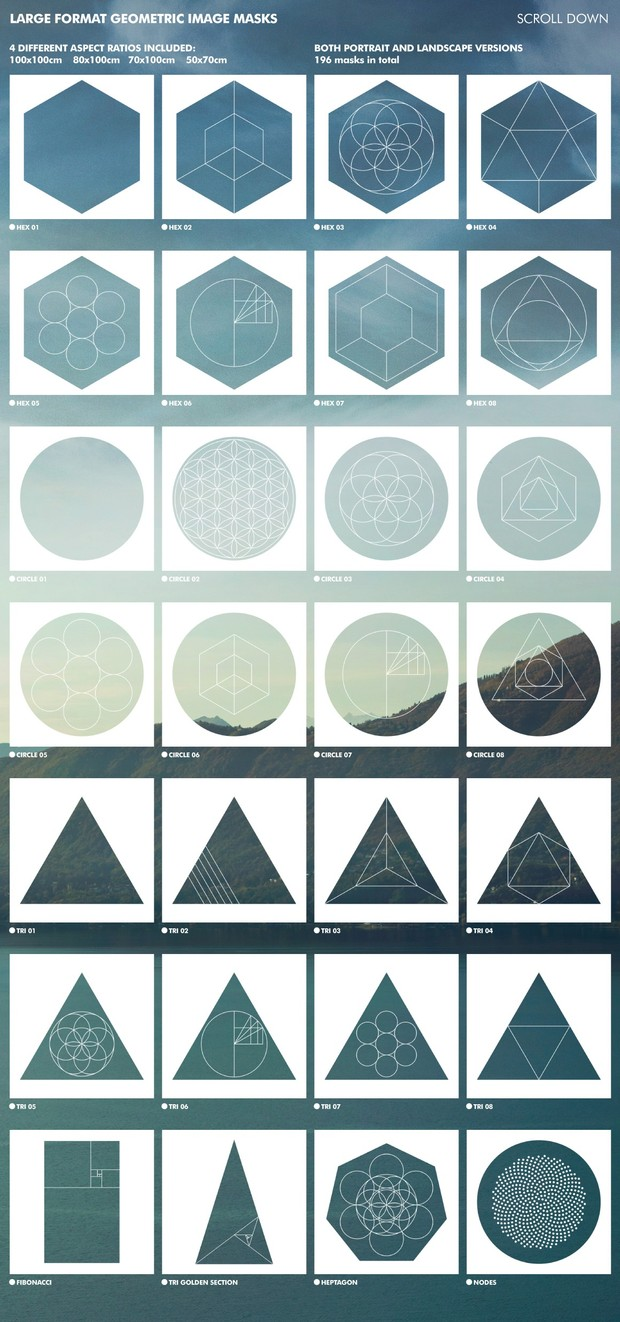 Large Format Geometric Image Masks