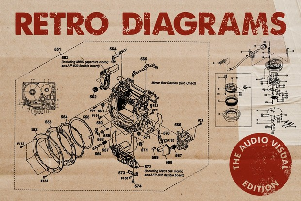Retro Vector Diagrams