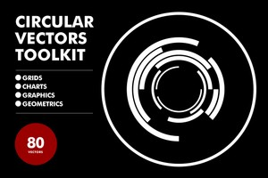 Circular Vectors Toolkit - 80 Items
