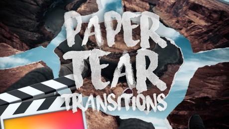Paper Tear Transition Pack - Final Cut Pro