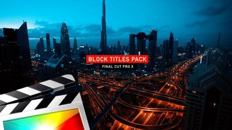 Block Titles Pack - Final Cut Pro X