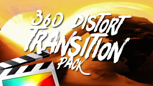 360 Distort Transition Pack - Final Cut Pro X