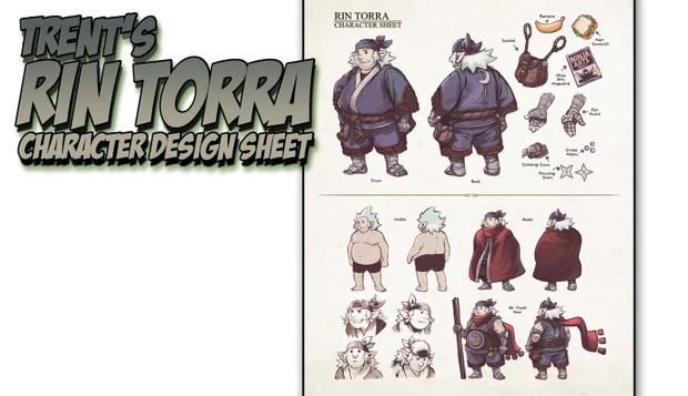 trent s rin torra character design sheet tutorial