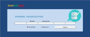 Plantilla de Entrada -  Salida de Stock en Excel  (Versión Simple)