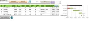 Cronograma en Excel V1.6 (Gannt Chart)