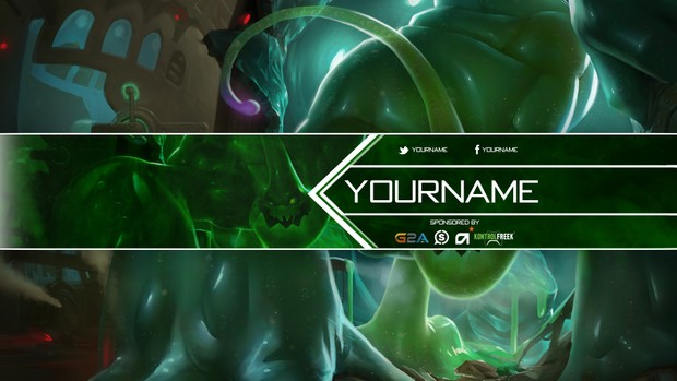League of Legends - YouTube Banner featuring Zac