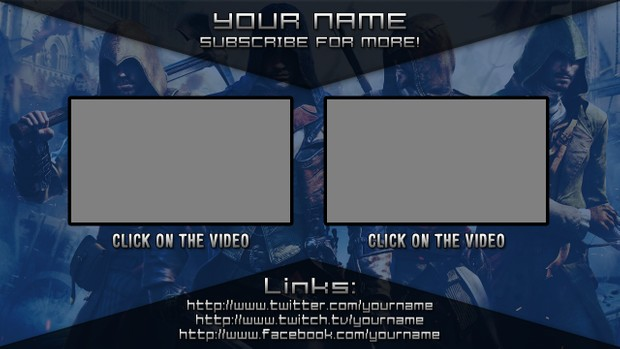 Assassin's Creed Unity Video Outro Template