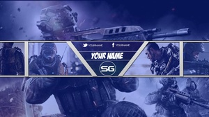 Advanced Warfare Banner - Blue Version 1
