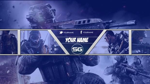Advanced Warfare Banner - Blue Version 1