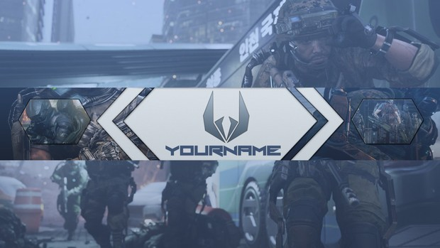 Call of Duty AW YouTube Channel Art