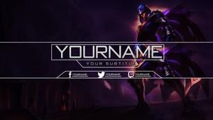 League Of Legends - YouTube Banner featuring Talon