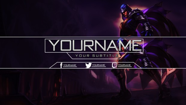 League Of Legends - YouTube Banner featuring Talon
