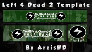 FREE Gaming Revamp Pack Template by ArzisHD (Logo, Banner, Twitter)