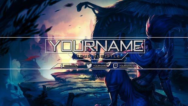 League of Legends - YouTube Banner featuring Yasuo