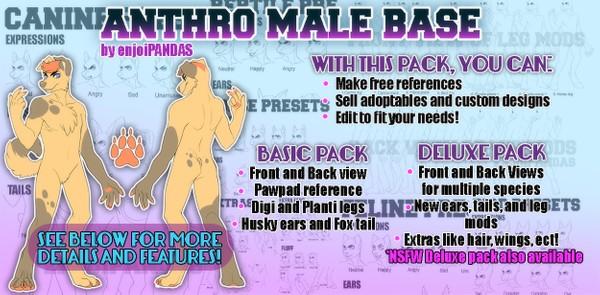 Anthro Male Base [NSFW]