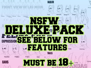 Anthro Male Base: Deluxe NSFW Pack
