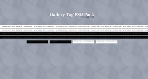 Gallery Tag PSD Pack #1