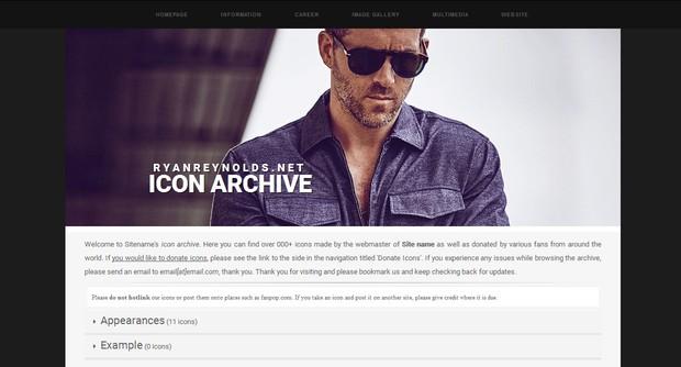 Icon Archive Premade 9 (Responsive)