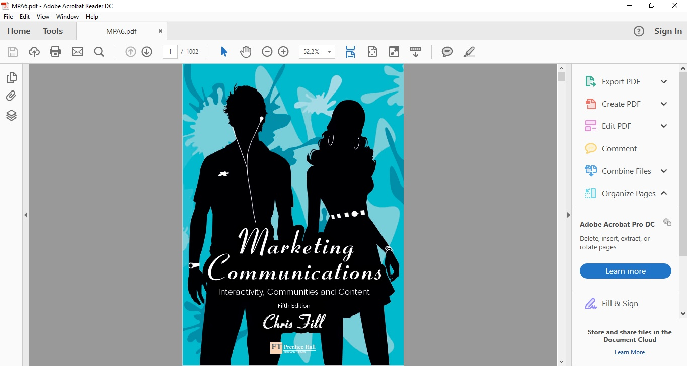 Marketing Communication Chris Fill Pdf