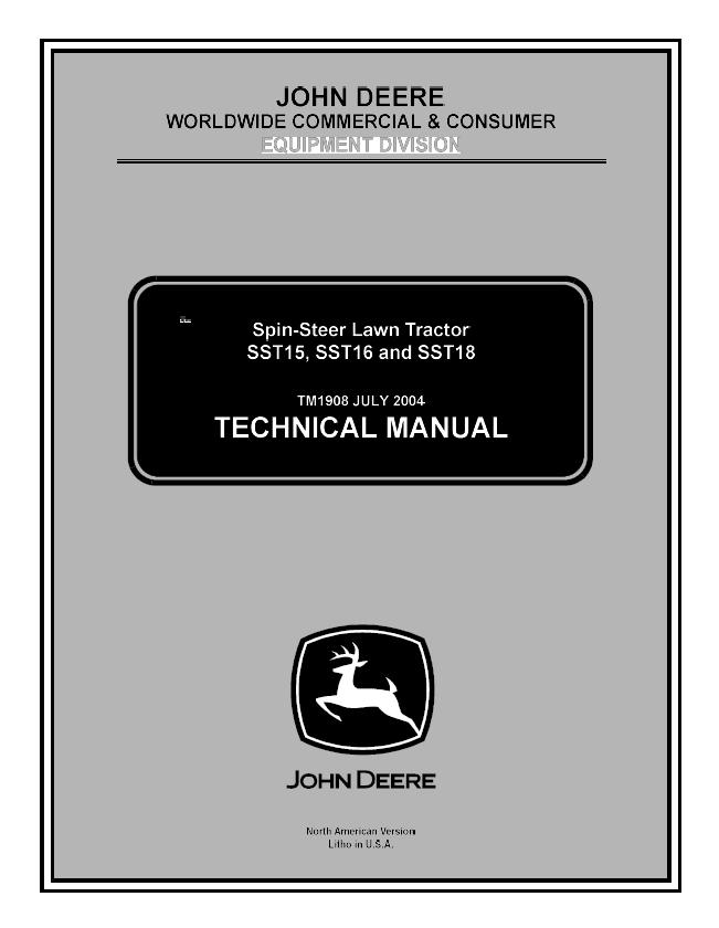 john deere spin steer sst15 sst16 sst18 service repa rh sellfy com John Deere SST16 Problems John Deere SST16 Steering Parts