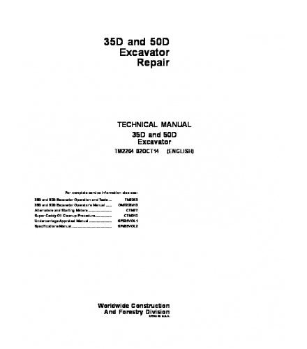 pdf download john deere 35d 50d excavator service rep rh sellfy com JD 50D with Grapple 40D vs 50D