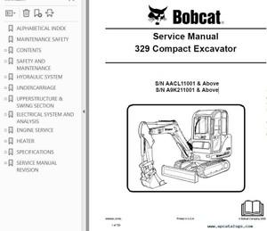 Bobcat 335 Excavator Service Repair Manual PDF S/N AAD1 & A9KA