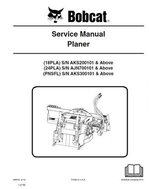 Bobcat 18PLA, 24PLA, PNSFL Planer Service Repair Manual PDF