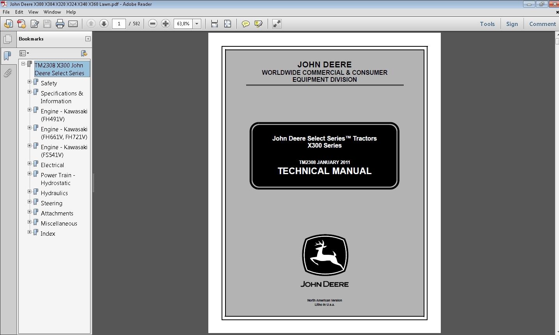 john deere x300 series tractors repair manual download rh sellfy com john deere repair manual free download john deere repair manual free download
