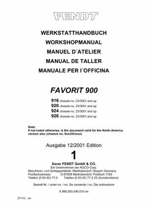 Pdf Download Fendt Favorit 900 916 920 924 926 Tractor Workshop Service Repair Manual