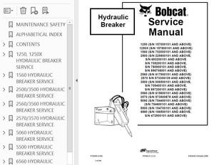 Bobcat 1250 thru 6560 Breaker Attachment Service Repair Manual PDF